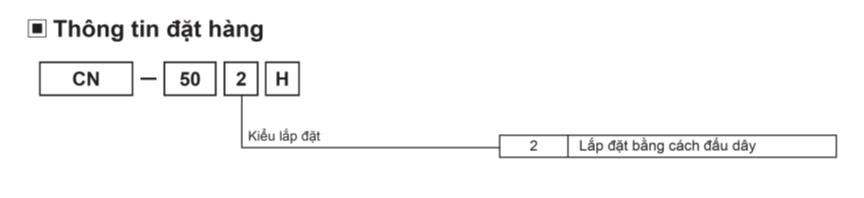 Thông tin đặt hàng CN-502H
