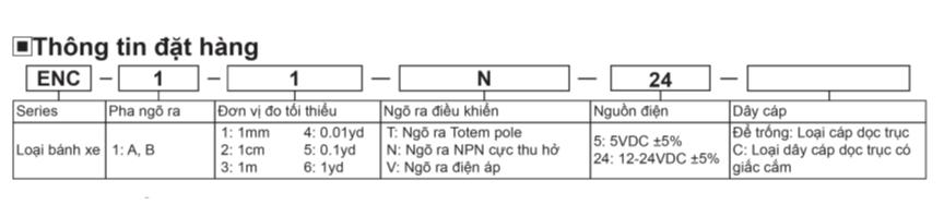 Bộ mã hóa vòng quay ENC tính năng