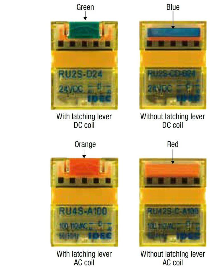 Màu sắc rơ le relay RU IDEC